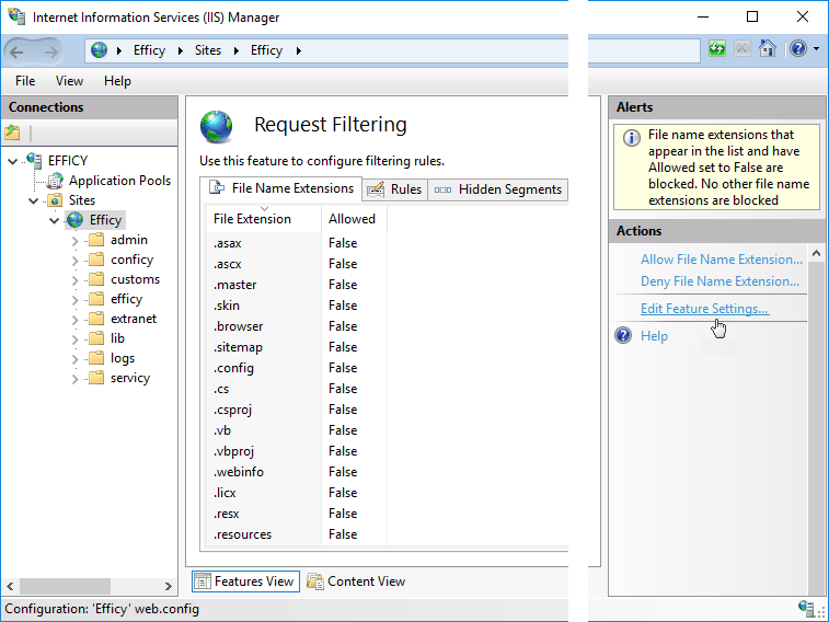Configuring higher versions of Windows